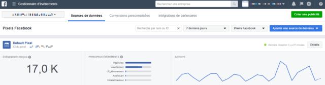 Dashboard pixel Facebook 1