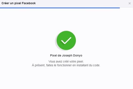 Generer mon pixel Facebook - écran3